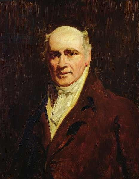 Portrait of an elderly man (oil on canvas)