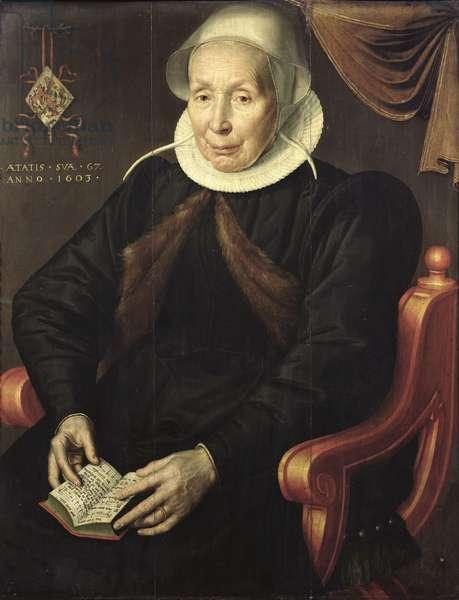 Portrait of an Elderly Woman, 1603 (oil on panel)