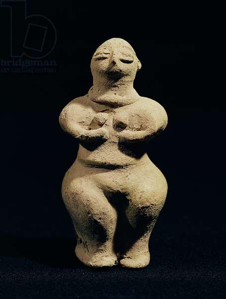 Statue of a goddess, 6th millennium BC (terracotta)