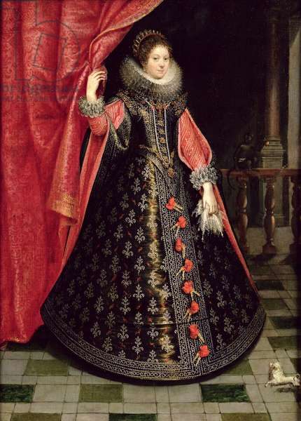 Portrait presumed to be Henrietta Maria of France (1609-69), after 1625 (oil on canvas)