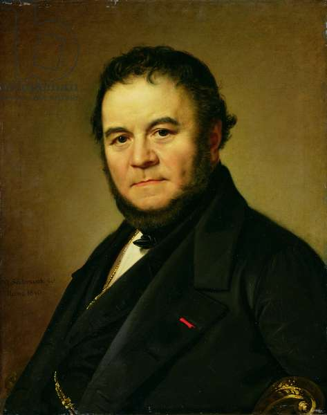 Portrait of Marie Henri Beyle, known as Stendhal (1783-1842) 1840 (oil on canvas)