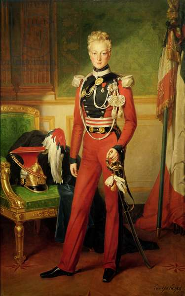 Louis-Charles-Philippe of Orleans (1814-96) Duke of Nemours, 1833 (oil on canvas)