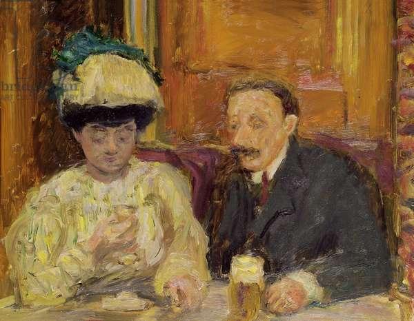 Le Petit cafe, 1900 (oil on panel)