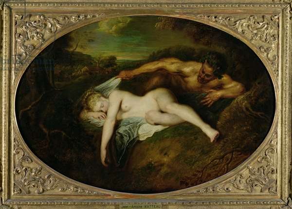 Nymph and Satyr, or Jupiter and Antiope, 1715 (oil on canvas)