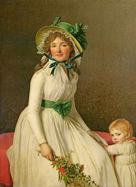 Madame Pierre Seriziat (nee Emilie Pecoul) with her Son, Emile (b.1793) 1795 (oil on panel)