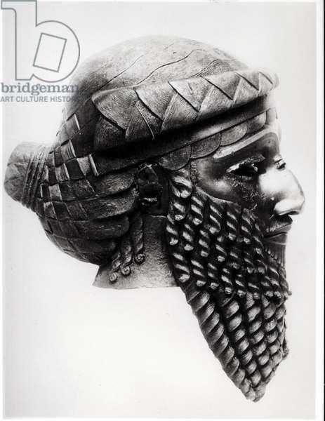 Head of Sargon I (c.2334-2279 BC) 2400-2200 BC (copper) (b/w photo) (see also 189592)