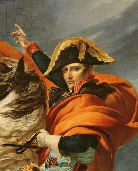 Detail of Napoleon Crossing the Alps on 20th May 1800, (oil on canvas)