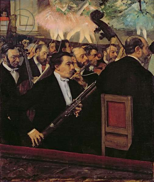 The Opera Orchestra, c.1870 (oil on canvas)