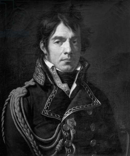 Baron Dominique Jean Larrey (1766-1842) 1804 (oil on canvas) (b/w photo)