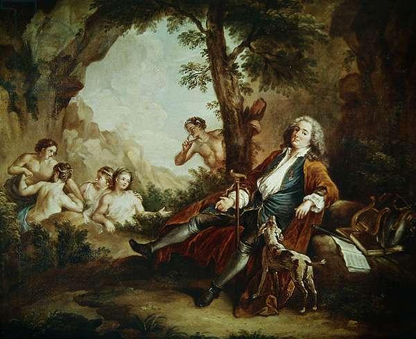 Portrait of Antoine de la Roque (oil on canvas)