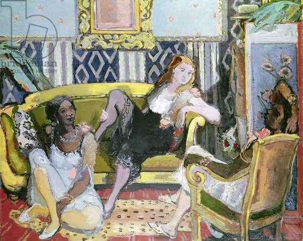 The Courtesans (oil on canvas)