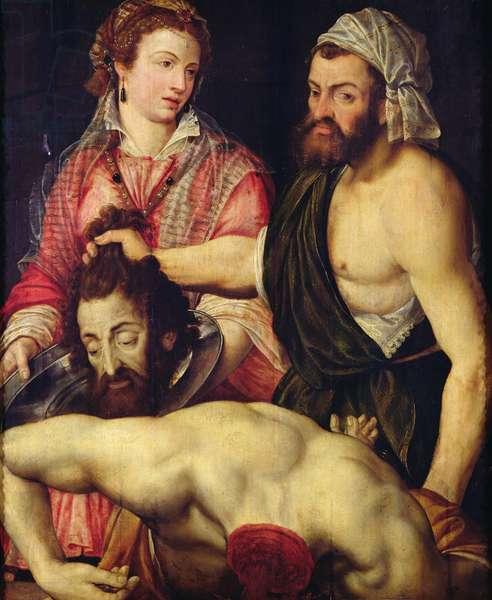 The Beheading of St. John the Baptist (oil on panel)