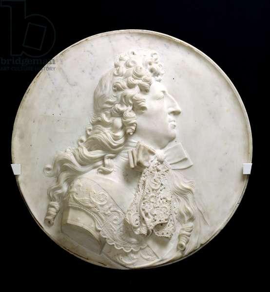 Portrait medallion of Louis XIV (1638-1715) c.1685 (marble)