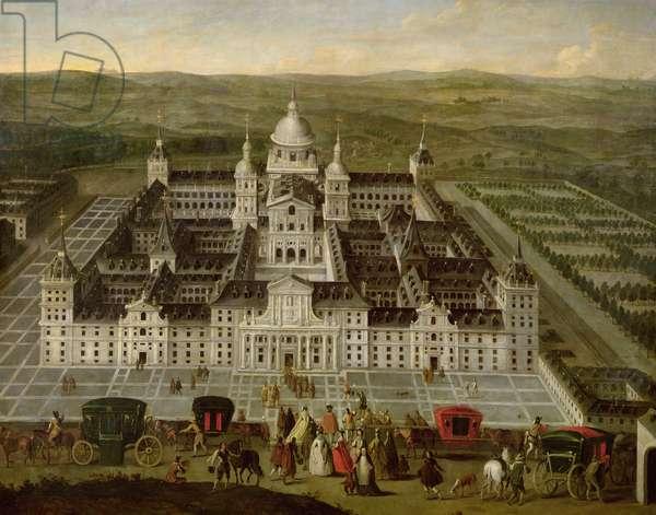 View of El Escorial (oil on canvas)