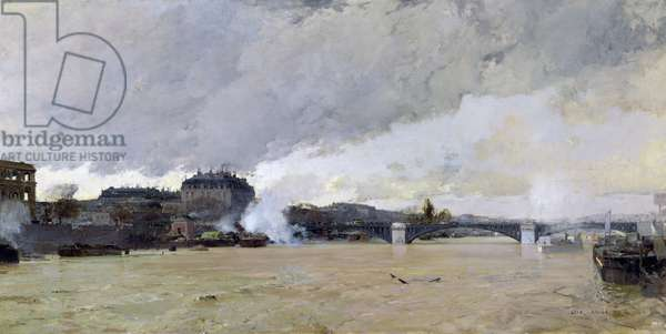 The Flooding of the Seine, c.1903 (oil on canvas)