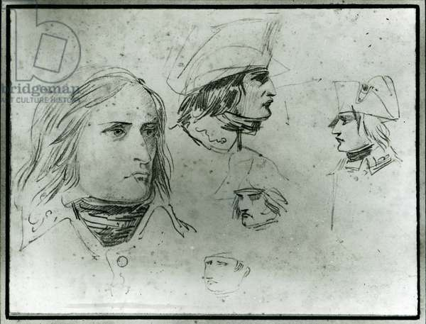 Sketches of Napoleon Bonaparte, 1797 (pencil)