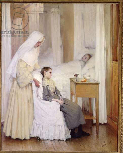 At Notre-Dame du Perpetuel Bon Secours Hospital, 1903 (oil on canvas)