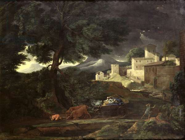 The Storm (oil on canvas)