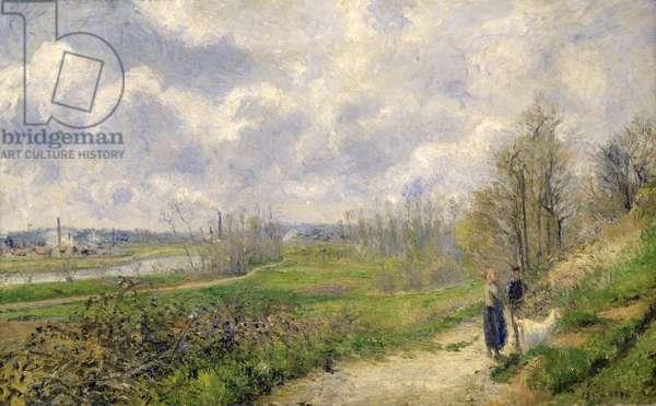 La Sente du Chou, near Pontoise, 1878 (oil on canvas)