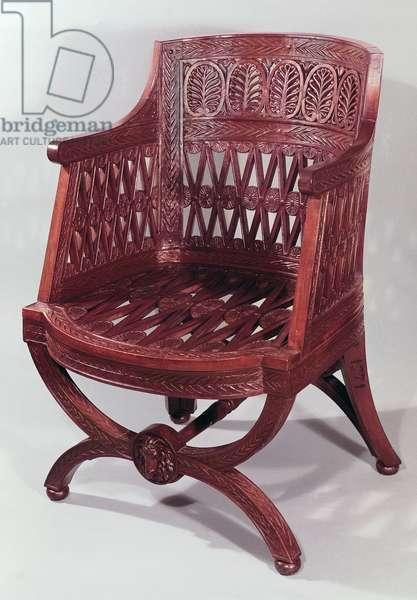 Louis XVI style armchair (acacia wood)