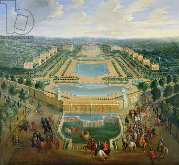 General view of the Chateau and the Pavilions at Marly, 1722 (oil on canvas)