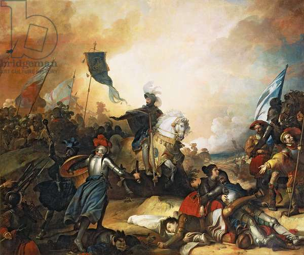 The Battle of Marignan, 14th September 1515, 1836 (oil on canvas)