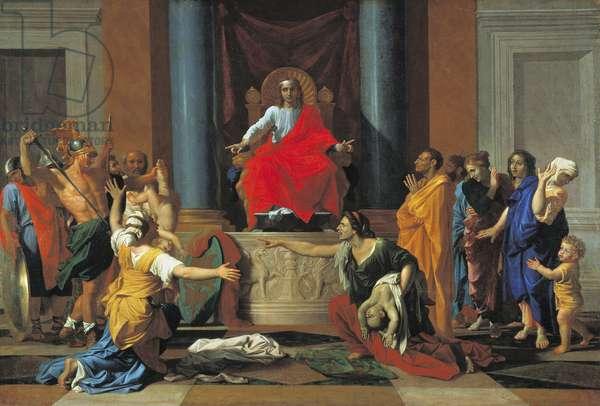 The Judgement of Solomon, 1649 (oil on canvas)