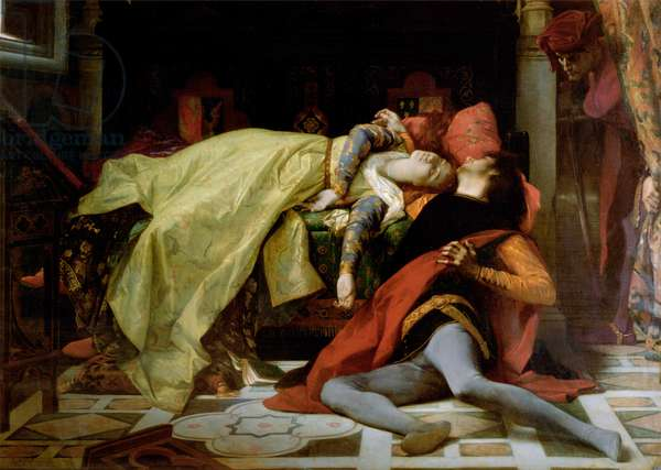 Death of Francesca da Rimini and Paolo Malatesta, 1870 (oil on canvas)