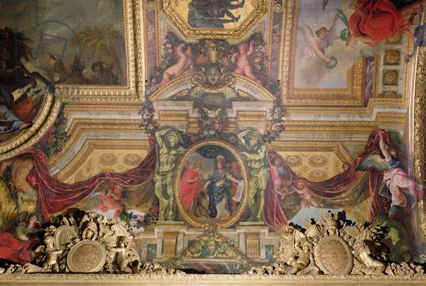 The Atonement for the Corsican Attacks in 1664, Ceiling Painting from the Galerie des Glaces