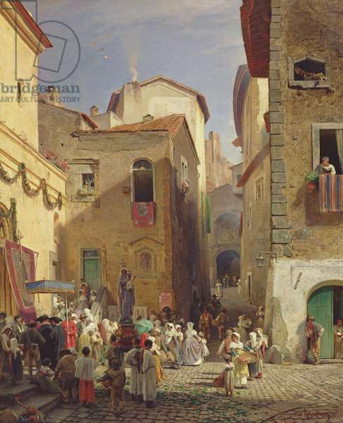 Festival of Our Lady at Gennazzano, Roman Campagna, Italy, 1865 (oil on canvas)