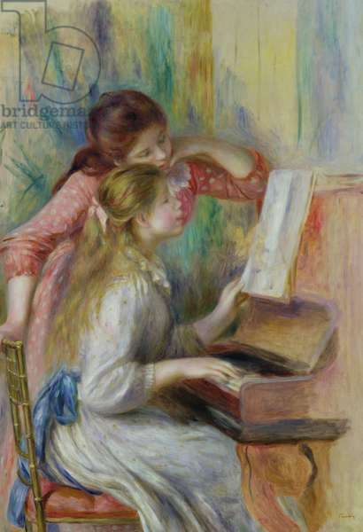 Young Girls at the Piano, c.1890 (oil on canvas)