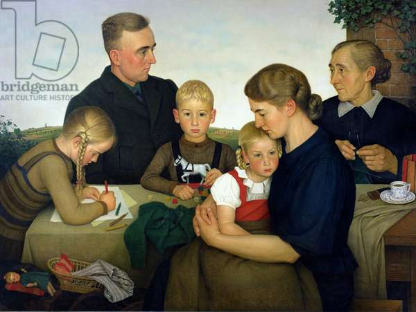 Farming Family from Kalenberg, 1939 (oil on canvas)