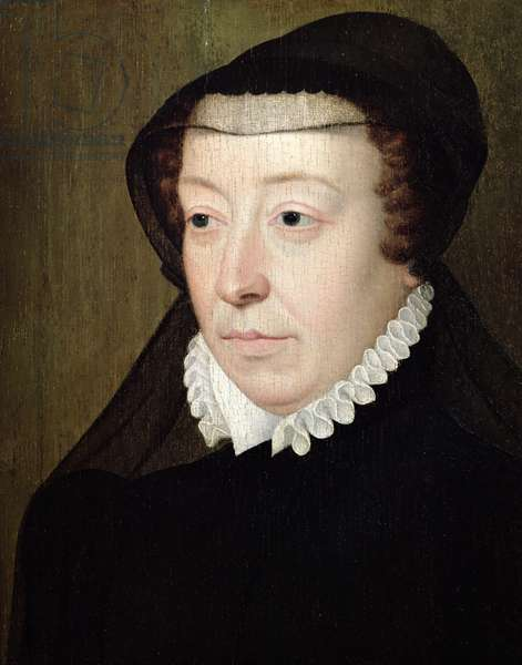 Portrait of Catherine de Medici (1519-89) (oil on panel) (see also 197210)