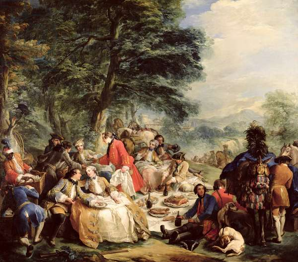 The Hunt Lunch, 1737 (oil on canvas)