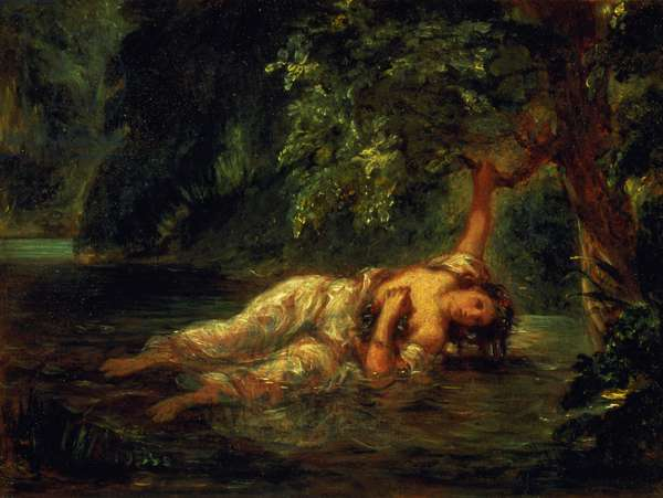The Death of Ophelia, 1844 (oil on canvas)