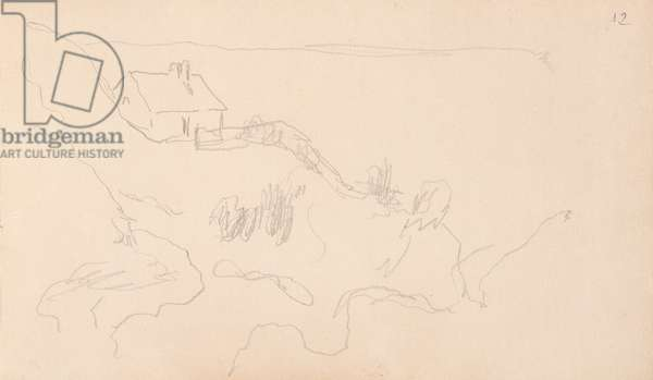 The Customs Officers' House in Varengeville (pencil on paper)