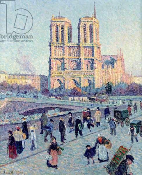 Le Quai St. Michel and Notre Dame, 1901 (oil on canvas)
