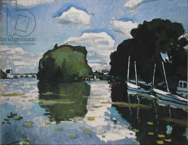 The Seine at Poissy, 1926 (oil on canvas)