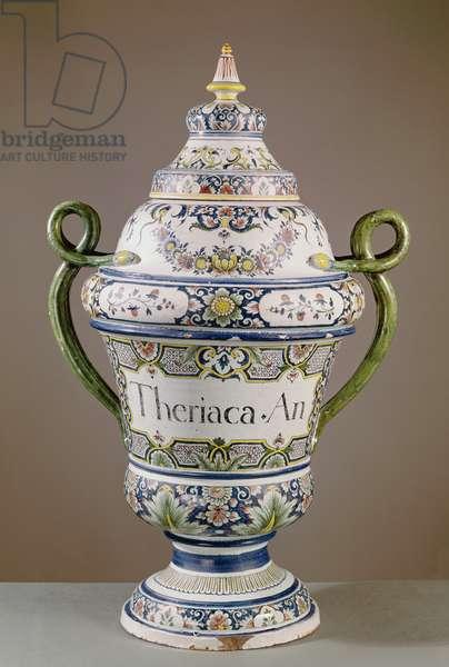 Pharmaceutical jar (ceramic)