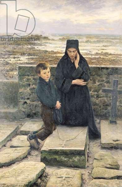 The Widow of the Ile de Sein, 1880 (oil on canvas)