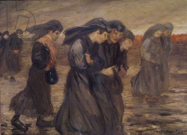 The Coal Graders, 1905 (oil on canvas)
