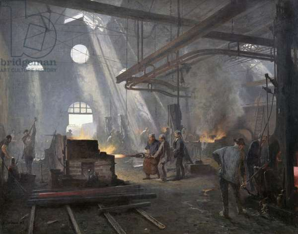 A Forge, 1893 (oil on canvas)