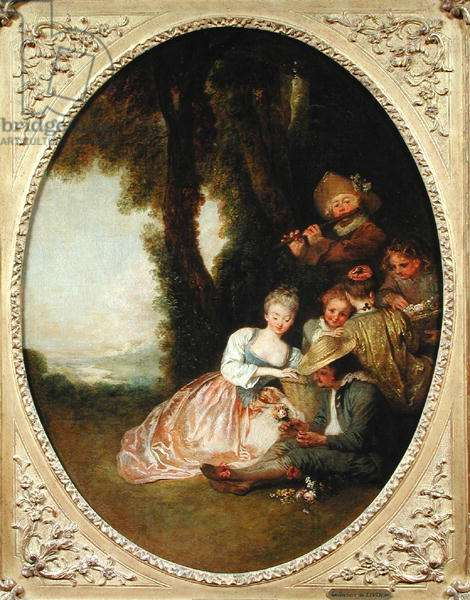 Concert Champetre, 1715 (oil on canvas)