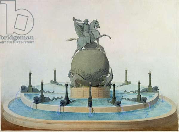 Project for the monument to the glory of Napoleon, 1839 (w/c on paper)