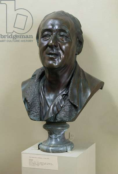 Bust of Denis Diderot (1713-84) 1777 (bronze)