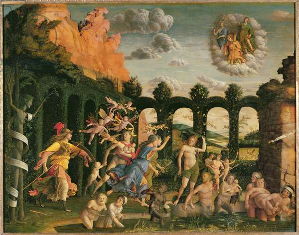 Minerva Chasing the Vices from the Garden of Virtue (oil on canvas)
