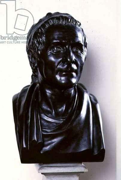Jean Jacques Rousseau (1712-78) 1778 (bronze)