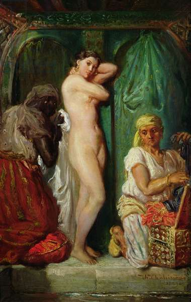 The Bath in the Harem, 1849 (oil on canvas)