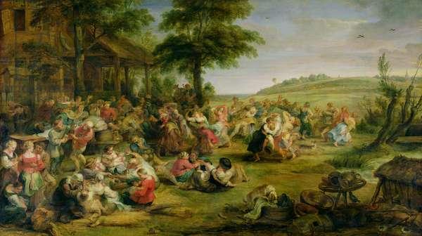 The Kermesse, c.1635-38 (oil on panel)