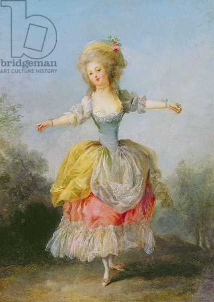 Dancer dressed in Louis XVI costume (oil on canvas)